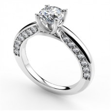 Certified 1.51ct Si2/g Round Diamond Solitaire Ring