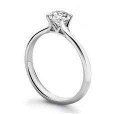 Igi Certified 0.51ct Si2/f Platinum Round Diamond Solitaire Ring
