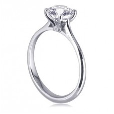 Certified 1.00ct Si2/i Round Diamond Ring