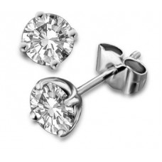 0.17ct Si/fg Round Diamond Stud Earrings