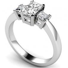 Simple Radiant & Princess Diamond Trilogy Ring