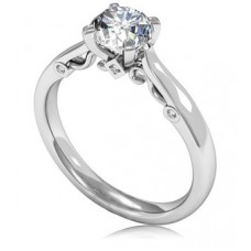 0.61ct Si3/i Round Diamond Solitaire Ring
