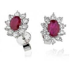 1.68ct Vs/fg Oval Gemstone Earrings