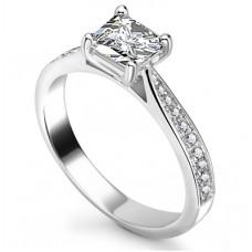 0.75ct Si2/g Princess Shoulder Set Ring