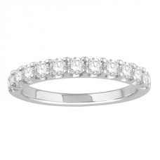 0.55ct  Vs/ef Round Diamond Half Eternity Ring
