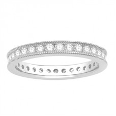 0.53ct  Vs/ef Round Diamond Full Eternity Ring