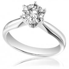 Certified 2.51ct Vs2/j Round Diamond Solitaire Ring