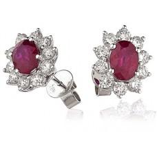 3.50ct Vs/fg Oval Gemstone Earrings