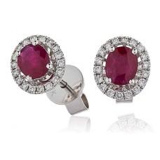 0.90ct Vs/fg Oval Gemstone Earrings