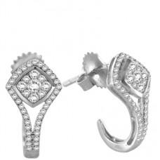 0.50ct Vs/fg Round Diamond Earrings