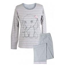 Muzzy 100% Cotton Women's Pyjamas Full Length Pants - Grey