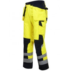 Projob Men's 8503 Flame Retardent High Visibility Trouser