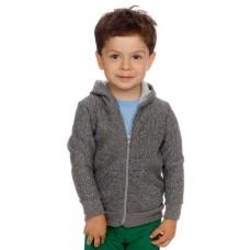American Apparel Children's Salt And Pepper Zip Hooded Sweatshirt