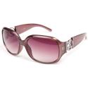 Guess Sunglasses In Rectangles With Diamante Logo Colour: Purple