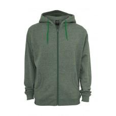 Melange Zip Green