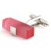 Pink Block Cufflinks