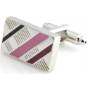 Rectangle Silver Pink And Purple Slant