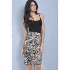 Tfnc Fiyona Leopard Print Skirt